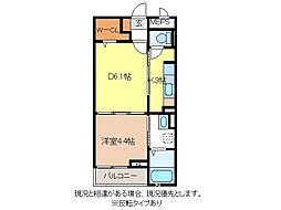長野電鉄長野線 信濃吉田駅 徒歩5分の賃貸マンション 1階1DKの間取り