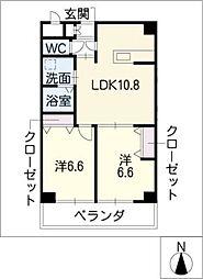 葵21ビル[7階]の間取り