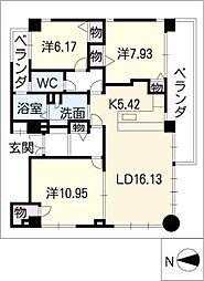 宮部ビル[1階]の間取り