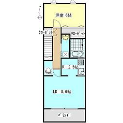 grandis masuda[2階]の間取り