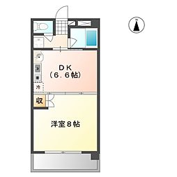 サンシャイン平田[5階]の間取り