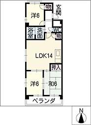 サンメゾン松井[3階]の間取り