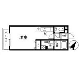 愛知県名古屋市天白区大坪の賃貸アパートの間取り