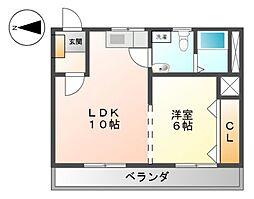 サンダイマンション[3階]の間取り