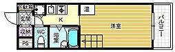 メゾン・エルセラーン 2階1Kの間取り