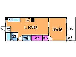 ニューコマコーポ[4階]の間取り