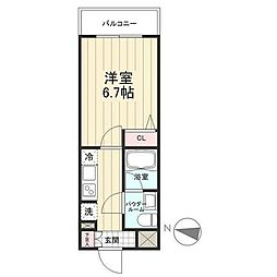 JR常磐線 亀有駅 徒歩8分の賃貸マンション 3階1Kの間取り