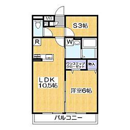 ラ カンパネラ A[1階]の間取り