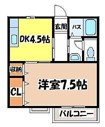 大阪府泉大津市寿町の賃貸アパートの間取り