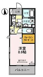 仮称)竹田向代町D-room[206号室号室]の間取り