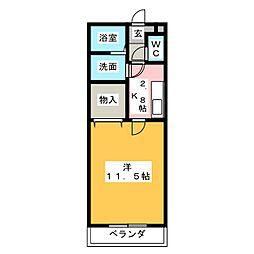 レジデンスシゲ[1階]の間取り