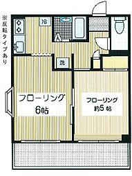 大成ハイツ[2階]の間取り