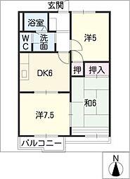 ファミール山本E・F棟[2階]の間取り