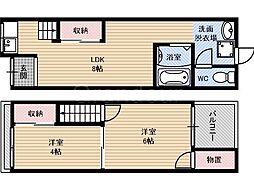 [テラスハウス] 大阪府大阪市城東区今福南2丁目 の賃貸【/】の間取り