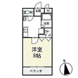 メゾン・ド・フルール2 2階[203号室]の間取り
