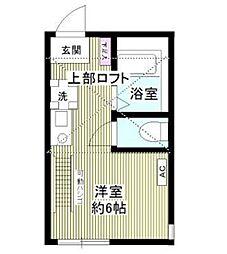 神奈川県横浜市泉区弥生台の賃貸アパートの間取り