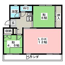 関田農住団地コーポつかさ[3階]の間取り