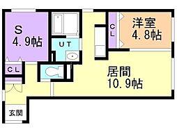 CITY RESIDENCE 幌平橋 4階1SLDKの間取り