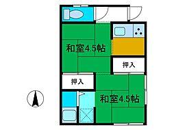 [テラスハウス] 神奈川県相模原市中央区淵野辺3丁目 の賃貸【神奈川県 / 相模原市中央区】の間取り