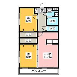レジデンス湯町[2階]の間取り