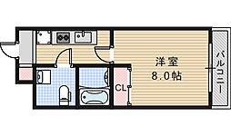 レグルス阿倍野[7階]の間取り