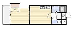 エンドレス519[6階]の間取り