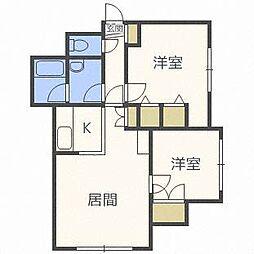 AMハイツ[2階]の間取り