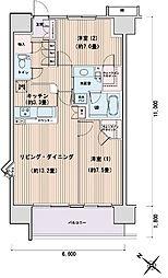 東京都江東区豊洲3丁目の賃貸マンションの間取り