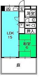 ポコアポコさくら夙川メゾン[102号室]の間取り