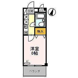 ラ・シャンブル福田1号館[3階]の間取り