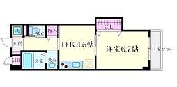 マンションクォーレ 3階1DKの間取り