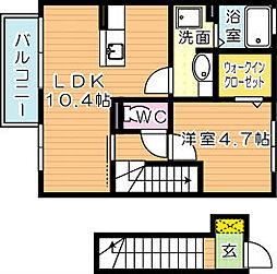 プレステージ二島 B棟[2階]の間取り