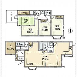 [一戸建] 神奈川県厚木市山際 の賃貸【神奈川県 / 厚木市】の間取り