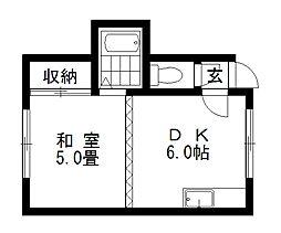 ドミ麻生II[7号室]の間取り
