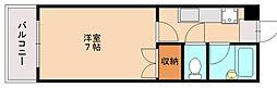 福岡県福岡市南区井尻1丁目の賃貸マンションの間取り