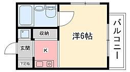 六番館[303号室]の間取り