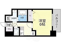 JR関西本線 JR難波駅 徒歩10分の賃貸マンション 8階1Kの間取り