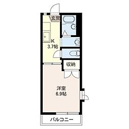 フローラ松戸[2階]の間取り