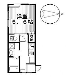 ハイツフレンド広瀬III[2階]の間取り