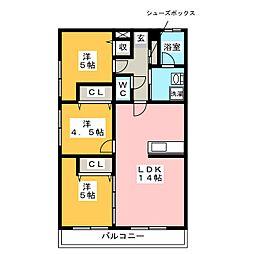 通古賀萩尾ビル[1階]の間取り