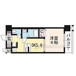 エステムコート京都西大路513 5階1DKの間取り