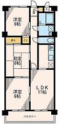 アクアガーデン(最上階住戸)[5階]の間取り