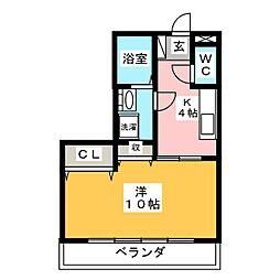 ボナール03 B棟[2階]の間取り
