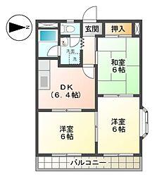 ニューマンション日比野[4階]の間取り