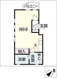 ヴェルドミール神宮西[3階]の間取り