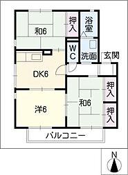 メゾン・ド・ロワール B[2階]の間取り