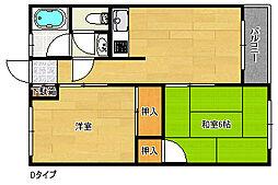 阪下ハウスマンション[5階]の間取り