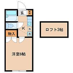 NK五輪[1階]の間取り