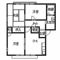 サンプライム阪南B[2階]の間取り
