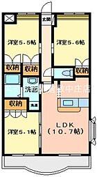 岡山県倉敷市沖新町丁目なしの賃貸マンションの間取り